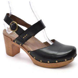Dansko Dotty Platform Clogs Heeled Sandals size 10